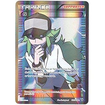 "Pokemon Noble Victories Single Trainer ""N"" FULL ART 101/101 - NEAR MINT (NM)"