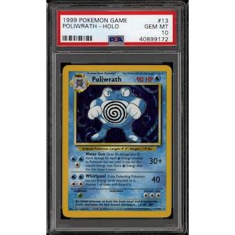 Pokemon Base Set Unlimited Poliwrath 13/102 PSA 10 GEM MINT