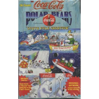 Coca-Cola Polar Bear Hobby Box (1996 Collect A Card)
