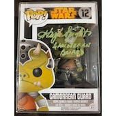 Star Wars Gamorrean Guard Funko POP Autographed by Hugh Splight