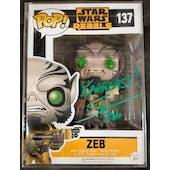 Star Wars Rebels Zeb Funko POP Autographed by Steve Blum