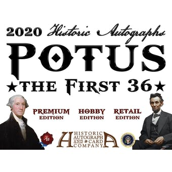 2020 Historic Autographs POTUS The First 36 Blaster Box
