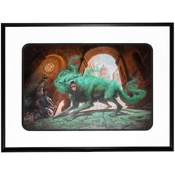 "Magic the Gathering Original Artwork ""Predator's Howl"" By Artist Ralph Horsley - 22"" x 15"""