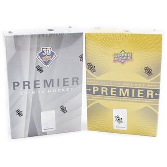 17/18 & 18/19 Upper Deck Premier Hockey 5-Box Dual Case- DACW Live 31 Spot Random Team Break #1