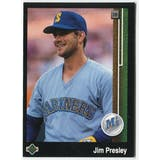 1989 Upper Deck Jim Presley Seattle Mariners Blank Back Black Border Proof