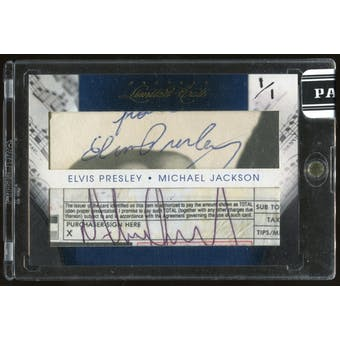2011 Donruss Limited Cuts Elvis Presley / Michael Jackson Dual Cut Signature Card #33 #1/1