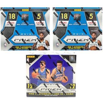 COMBO DEAL - Panini Prizm Basketball Boxes (2x 2017/18 Prizm Fast Break, 1 2018/19 Prizm Hobby)