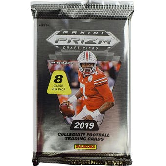 2019 Panini Prizm Draft Picks Football Hobby Pack