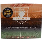 2019 Hit Parade Autographed PROLINE Football Helmet Hobby Box  Series 2 - Brees/Kamara DUAL & Saquon Barkley!