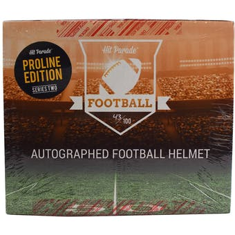 2019 Hit Parade Auto Full Size PROLINE Football Helmet 1-Box Ser 2 - DACW Live 8 Spot Random Division Break #1