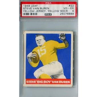 1948 Leaf Football #22 Steve Van Buren PSA 4 (VG-EX) *6889 (Reed Buy)