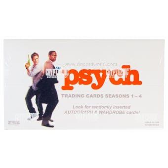Psych Seasons 1-4 Trading Cards Box (Cryptozoic 2013)
