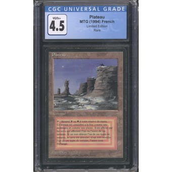 Magic the Gathering Revised FBB French Plateau CGC 4.5