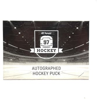 2020/21 Hit Parade Autographed Hockey Puck - Series 2 - Hobby Box Look for Marner, Messier & MacKinnon!!!