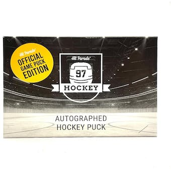 2020/21 Hit Parade Autographed Hockey Official Game Puck Edition Hobby Box - Series 5 - Connor McDavid!!!