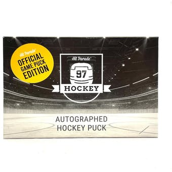 2020/21 Hit Parade Autographed Hockey Official Game Puck Edition Series 17 Hobby 10-Box Case - Ovechkin!