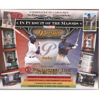 2010 TriStar Pursuit Series 1 Baseball Hobby Box