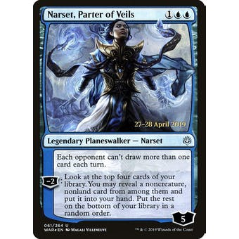 Magic the Gathering War of the Spark PRERELEASE Narset, Parter of Veils Foil NEAR MINT (NM) Sick Deal Pricing