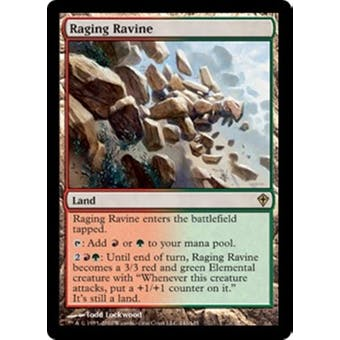 Magic the Gathering Worldwake Single Raging Ravine Foil - MODERATE PLAY (MP) Sick Deal Pricing