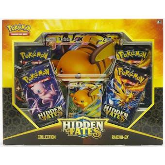 Pokemon Hidden Fates Collection Raichu-GX Box