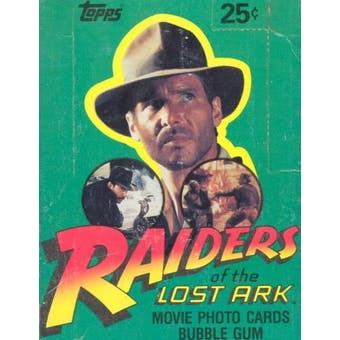 Raiders of the Lost Ark Wax Box (1981 Topps)