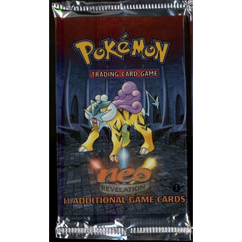 WOTC Pokemon Neo 3 Revelation 1st Edition Booster Pack RAIKOU Art UNWEIGHED