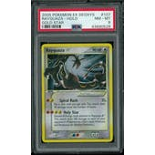 Pokemon EX Deoxys Rayquaza Gold Star 107/107 PSA 8