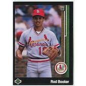 1989 Upper Deck Rod Booker St. Louis Cardinals Blank Back Black Border Proof