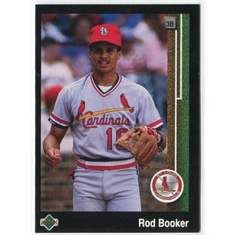 1989 Upper Deck Rod Booker St. Louis Cardinals Blank Back Black Border Proof