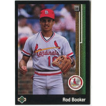 1989 Upper Deck Rod Booker St. Louis Cardinals #644 Black Border Proof