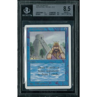 Magic the Gathering Unlimited Ancestral Recall BGS 8.5 (9, 8.5, 7.5, 9.5)