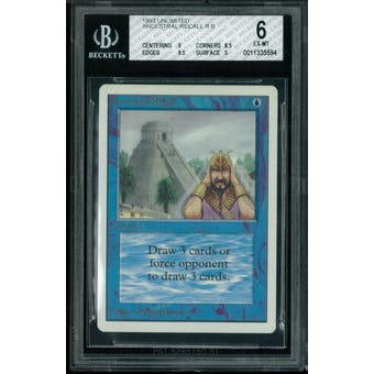 Magic the Gathering Unlimited Ancestral Recall BGS 6 (9, 8.5, 8.5, 5)