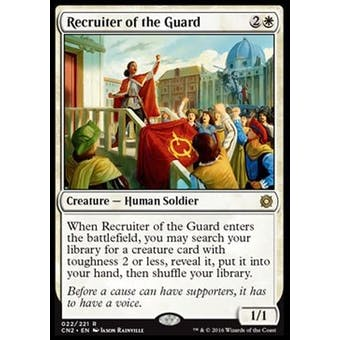 Magic the Gathering Conspiracy Take the Crown Single Recruiter of the Guard - SLIGHT PLAY (SP)