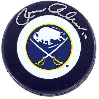 Rene Robert Autographed Buffalo Sabres Throwback Hockey Puck