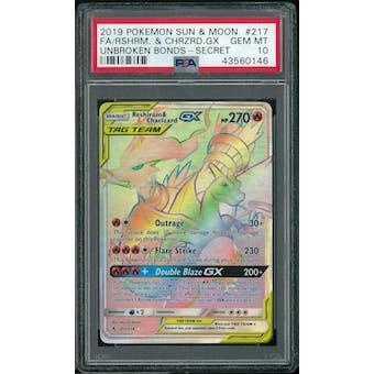 Pokemon Unbroken Bonds Reshiram & Charizard GX 217/214 PSA 10 GEM MINT