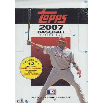 2007 Topps Series 1 Baseball Rack Box