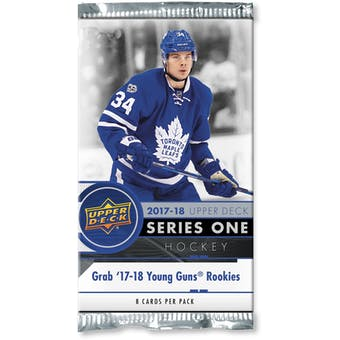 2017/18 Upper Deck Series 1 Hockey Retail Pack