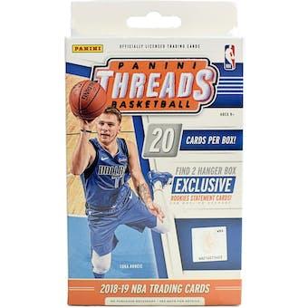 2018/19 Panini Threads Basketball 20ct Hanger Box