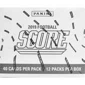 2019 Panini Score Football 12-Pack Jumbo Box