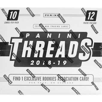 2018/19 Panini Threads Basketball 12ct Jumbo Fat Pack Box