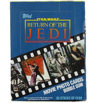 Star Wars Return of the Jedi Series 1 Wax Box (1983 Topps)