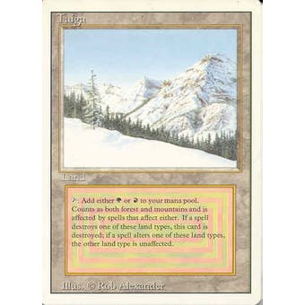 Magic the Gathering 3rd Ed (Revised) Single Taiga - SLIGHT PLAY (SP)