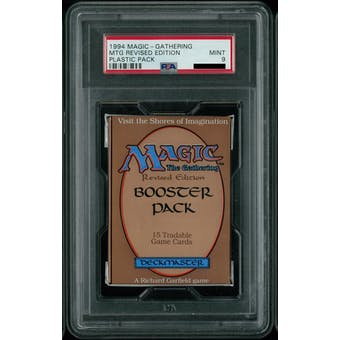 Magic the Gathering 3rd Edition (Revised) Booster Pack - Graded PSA 9