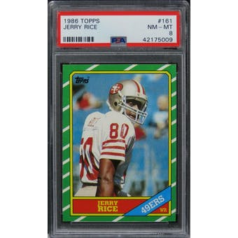 1986 Topps Jerry Rice PSA 8 card #161