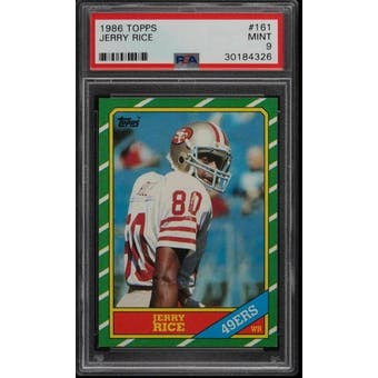 1986 Topps Jerry Rice PSA 9 card #161