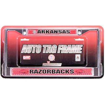 Rico Tag Arkansas Razorbacks Domed Chrome License Plate Frame