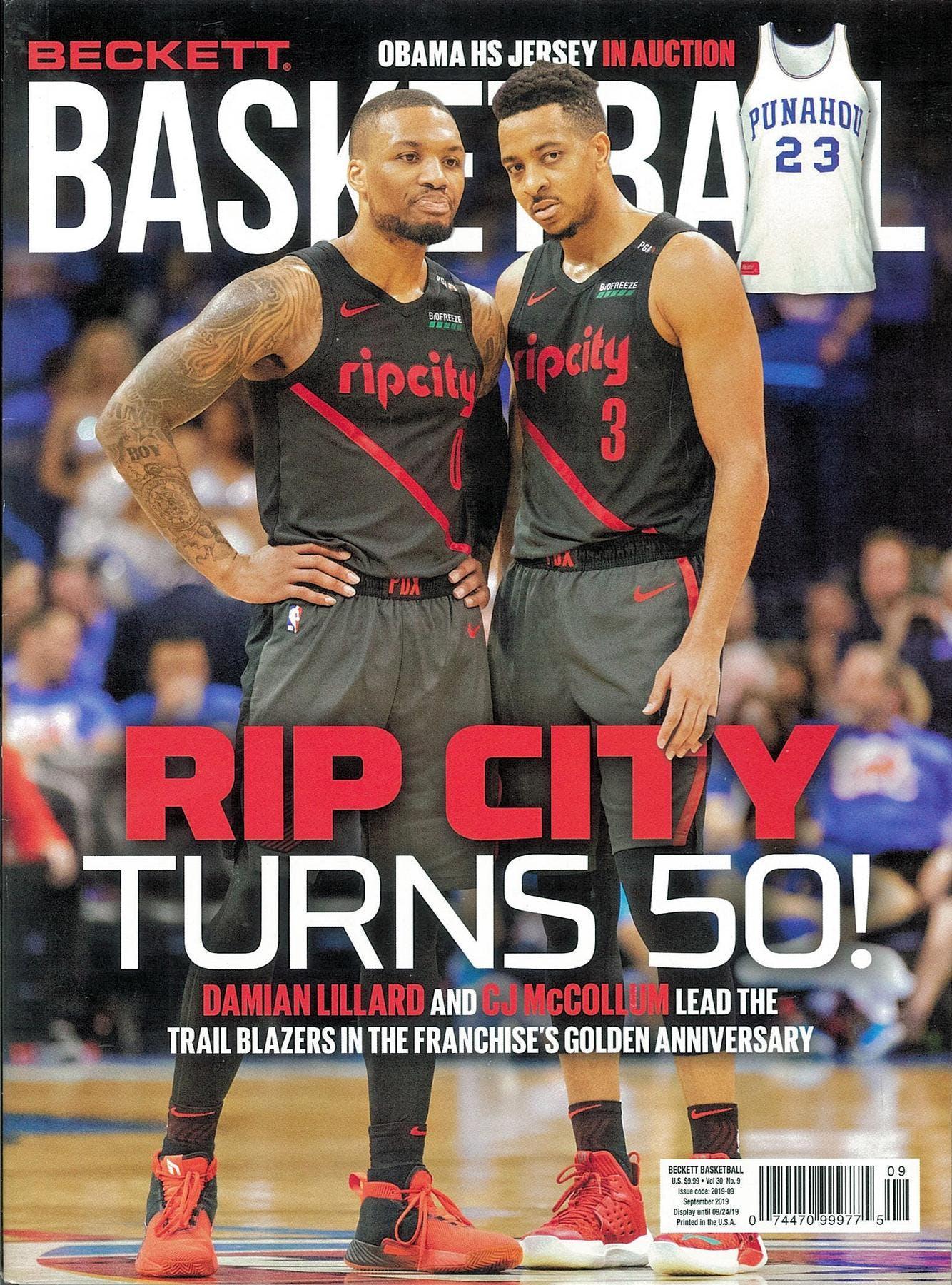 2019 Beckett Basketball Monthly Price Guide 324 September Rip City