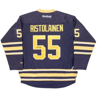 Rasmus Ristolainen Autographed Buffalo Sabres Large Blue Hockey Jersey