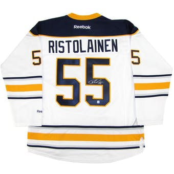 Rasmus Ristolainen Autographed Buffalo Sabres XXL White Hockey Jersey