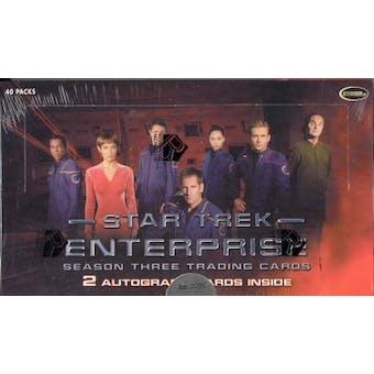 Star Trek Enterprise Season 3 Trading Cards Box (Rittenhouse 2004)
